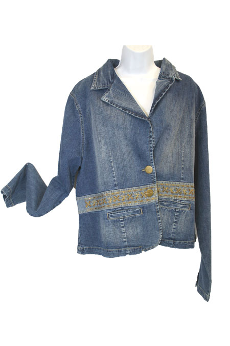 Jean Jacket with Gold Work