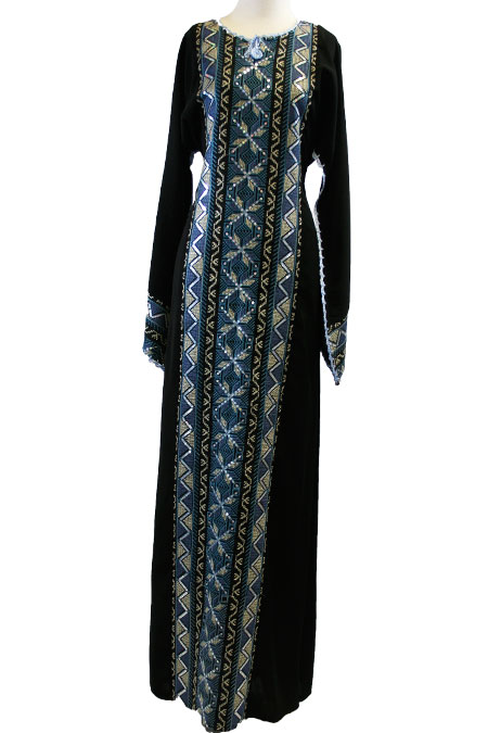 Palestinian Cultural Dress with Heavy Design Work