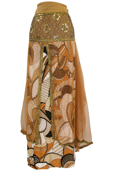 Dubai Long Printed Skirt with Accessories