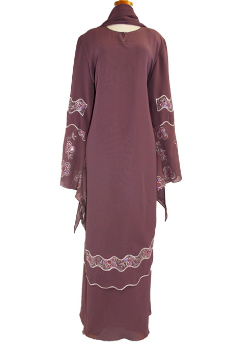 Color Abaya with Bead Work