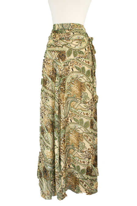 Long Skirt with Printed Design