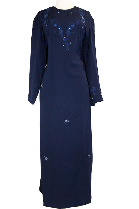 Color Abaya with Design Work (Clearance Item)