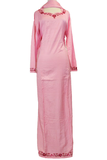 100% Cotton Color Abaya with Bead Work on it