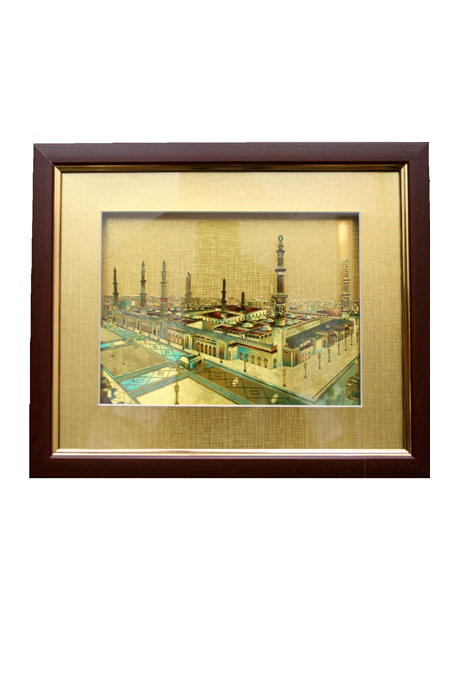 Islamic Frame Cherry Wood with Glass Cover, 10 X 10 inches