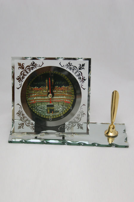 Islamic Clock for Desk with Pen Holder