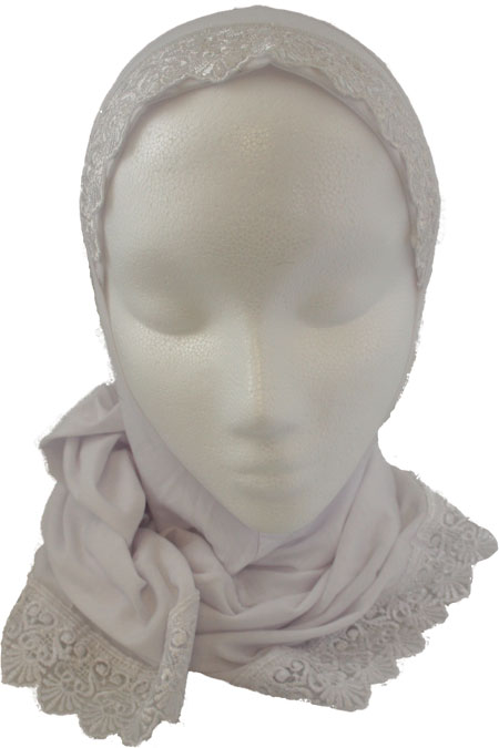 1 Piece Lace Hijab 100% Cotton