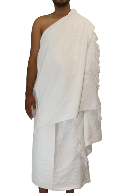 2-Piece White Towel 100% Cotton (no stiching for hajj)