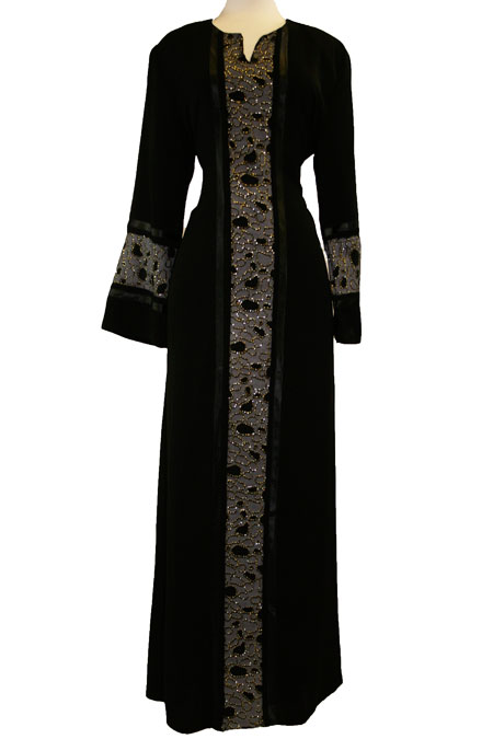 Color Abaya with Design Work