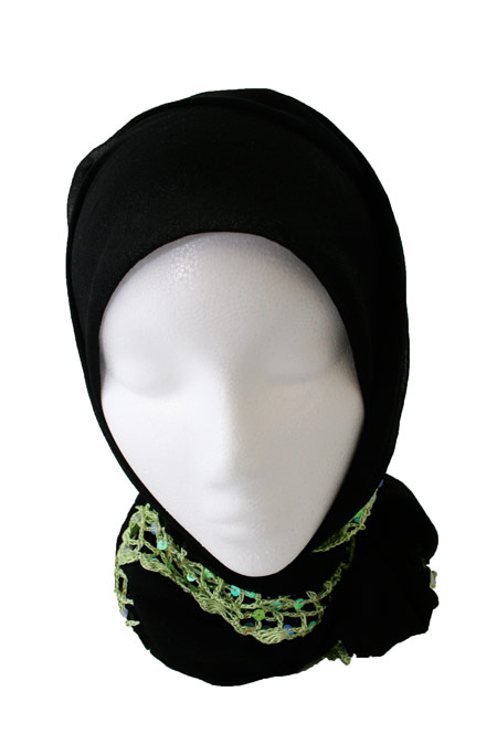 Womens Long Hijab with Beads